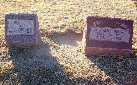 BROWN, LOU ALICE - Barton County, Kansas | LOU ALICE BROWN - Kansas Gravestone Photos