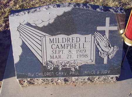CAMPBELL, MILDRED L - Barton County, Kansas | MILDRED L CAMPBELL - Kansas Gravestone Photos