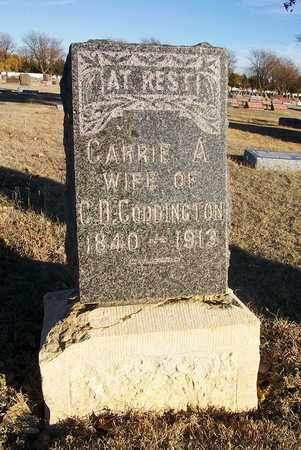 CODDINGTON, CARRIE A - Barton County, Kansas | CARRIE A CODDINGTON - Kansas Gravestone Photos