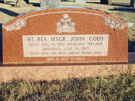 CODY, JOHN, RIGHT REVERAND MONSIGNOR - Barton County, Kansas | JOHN, RIGHT REVERAND MONSIGNOR CODY - Kansas Gravestone Photos