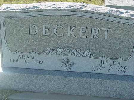 DECKERT, HELEN - Barton County, Kansas | HELEN DECKERT - Kansas Gravestone Photos