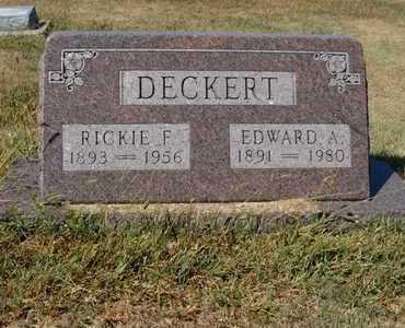 DECKERT, EDWARD A - Barton County, Kansas | EDWARD A DECKERT - Kansas Gravestone Photos