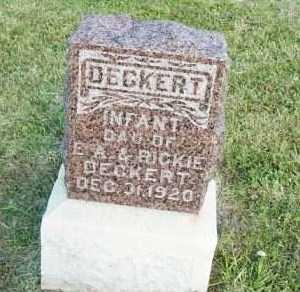 DECKERT, INFANT DAUGHTER - Barton County, Kansas | INFANT DAUGHTER DECKERT - Kansas Gravestone Photos