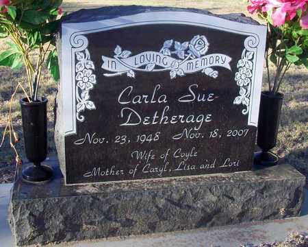 DETHERAGE, CARLA SUE - Barton County, Kansas | CARLA SUE DETHERAGE - Kansas Gravestone Photos