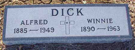 DICK, ALFRED HENRY - Barton County, Kansas | ALFRED HENRY DICK - Kansas Gravestone Photos