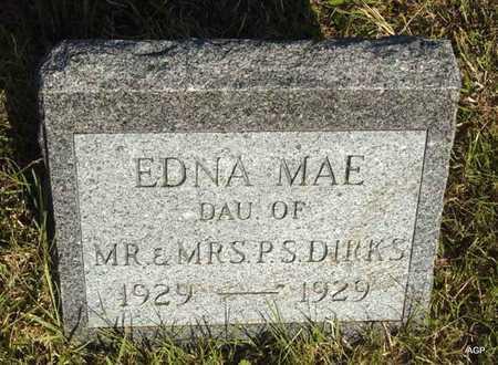 DIRKS, EDNA MAE - Barton County, Kansas | EDNA MAE DIRKS - Kansas Gravestone Photos