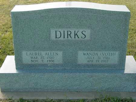 DIRKS, LAUREL ALLEN - Barton County, Kansas | LAUREL ALLEN DIRKS - Kansas Gravestone Photos
