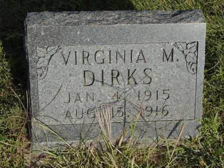 DIRKS, VIRGINIA M - Barton County, Kansas | VIRGINIA M DIRKS - Kansas Gravestone Photos