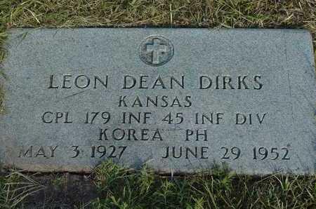DIRKS, LEON DEAN  (VETERAN KOR, KIA) - Barton County, Kansas | LEON DEAN  (VETERAN KOR, KIA) DIRKS - Kansas Gravestone Photos