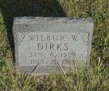 DIRKS, WILBUR W - Barton County, Kansas | WILBUR W DIRKS - Kansas Gravestone Photos