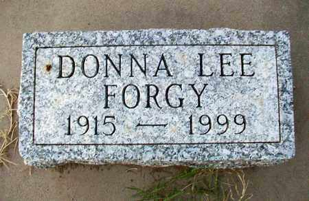 FORGY, DONNA LEE - Barton County, Kansas | DONNA LEE FORGY - Kansas Gravestone Photos