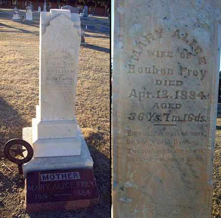 FREY, MARY ALICE - Barton County, Kansas | MARY ALICE FREY - Kansas Gravestone Photos