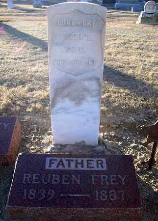 FREY, REUBEN   (VETERAN UNION) - Barton County, Kansas | REUBEN   (VETERAN UNION) FREY - Kansas Gravestone Photos
