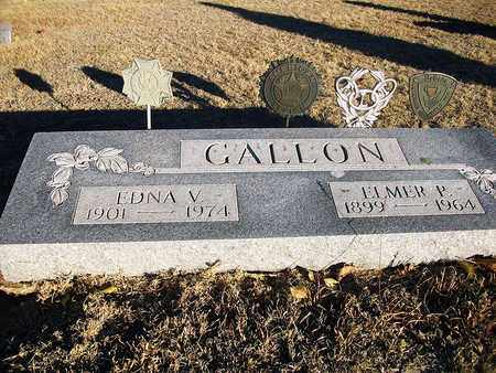 GALLON, ELMER P - Barton County, Kansas | ELMER P GALLON - Kansas Gravestone Photos
