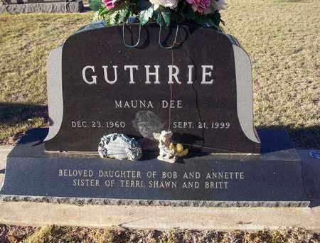 GUTHRIE, MAUNA DEE - Barton County, Kansas   MAUNA DEE GUTHRIE - Kansas Gravestone Photos