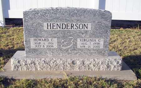 HENDERSON, VIRGINIA C - Barton County, Kansas | VIRGINIA C HENDERSON - Kansas Gravestone Photos