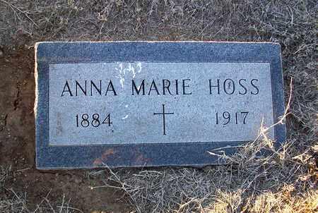 HOSS, ANNA MARIE - Barton County, Kansas   ANNA MARIE HOSS - Kansas Gravestone Photos