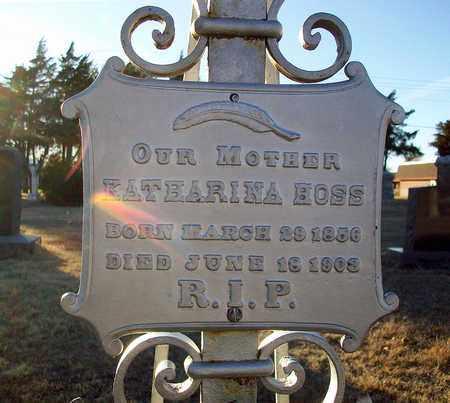 HOSS, KATHARINA (CLOSE UP) - Barton County, Kansas | KATHARINA (CLOSE UP) HOSS - Kansas Gravestone Photos