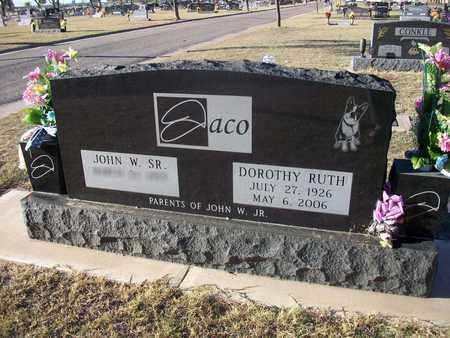 JACO, DOROTHY RUTH - Barton County, Kansas   DOROTHY RUTH JACO - Kansas Gravestone Photos