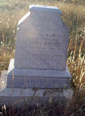 KOBER, PETRUS - Barton County, Kansas | PETRUS KOBER - Kansas Gravestone Photos