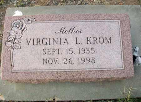 KROM, VIRGINIA L - Barton County, Kansas | VIRGINIA L KROM - Kansas Gravestone Photos