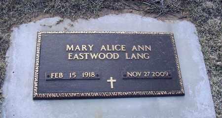 EASTWOOD, MARY ALICE ANN - Barton County, Kansas | MARY ALICE ANN EASTWOOD - Kansas Gravestone Photos
