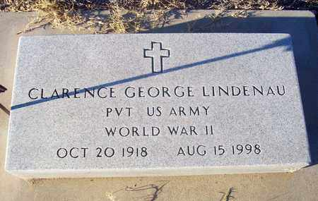 LINDENAU, CLARENCE GEORGE   (VETERAN WWII) - Barton County, Kansas | CLARENCE GEORGE   (VETERAN WWII) LINDENAU - Kansas Gravestone Photos