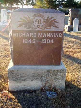 MANNING, RICHARD - Barton County, Kansas   RICHARD MANNING - Kansas Gravestone Photos