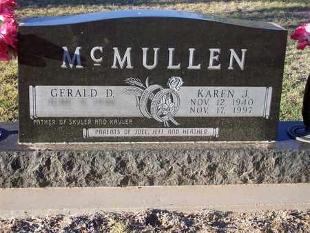 MCMULLEN, KAREN J - Barton County, Kansas | KAREN J MCMULLEN - Kansas Gravestone Photos