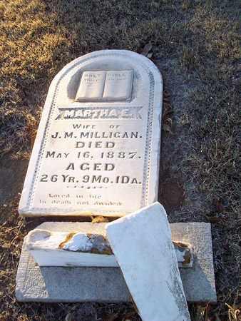 MILLIGAN, MARTHA E - Barton County, Kansas   MARTHA E MILLIGAN - Kansas Gravestone Photos