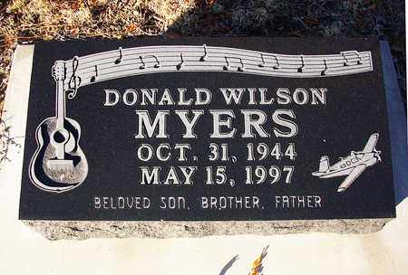 MYERS, DONALD WILSON - Barton County, Kansas | DONALD WILSON MYERS - Kansas Gravestone Photos