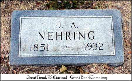 NEHRING, JULIUS/JULIAN A - Barton County, Kansas   JULIUS/JULIAN A NEHRING - Kansas Gravestone Photos