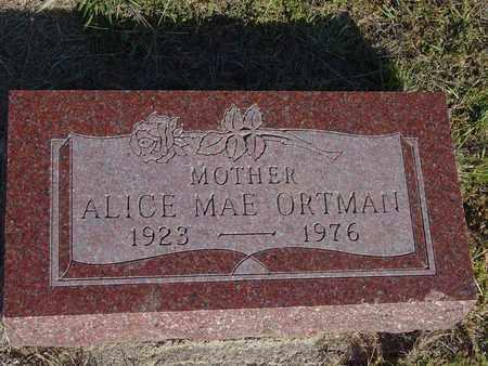 ORTMAN, ALICE MAE - Barton County, Kansas | ALICE MAE ORTMAN - Kansas Gravestone Photos