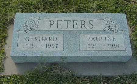 BANMAN PETERS, PAULINE - Barton County, Kansas | PAULINE BANMAN PETERS - Kansas Gravestone Photos