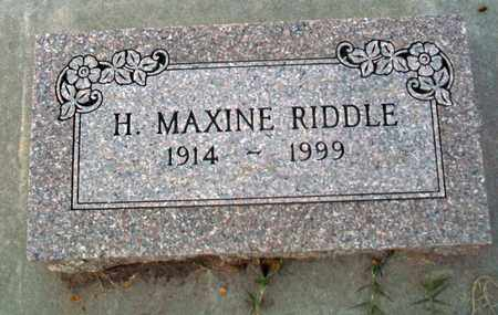 RIDDLE, H MAXINE - Barton County, Kansas | H MAXINE RIDDLE - Kansas Gravestone Photos