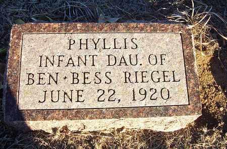 RIEGEL, PHYLLIS - Barton County, Kansas | PHYLLIS RIEGEL - Kansas Gravestone Photos