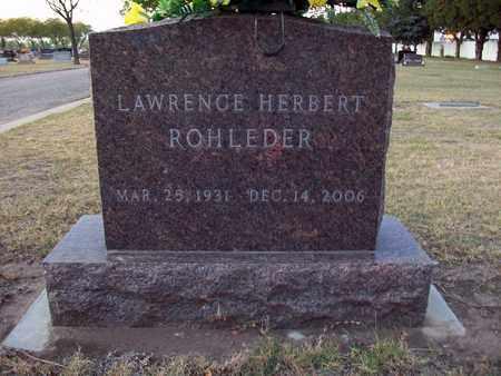 ROHLEDER, LAWRENCE HERBERT - Barton County, Kansas | LAWRENCE HERBERT ROHLEDER - Kansas Gravestone Photos