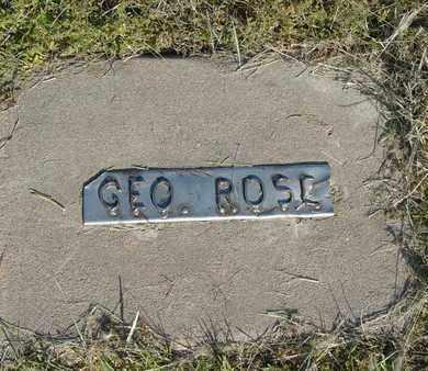 ROSE, GEORGE - Barton County, Kansas | GEORGE ROSE - Kansas Gravestone Photos