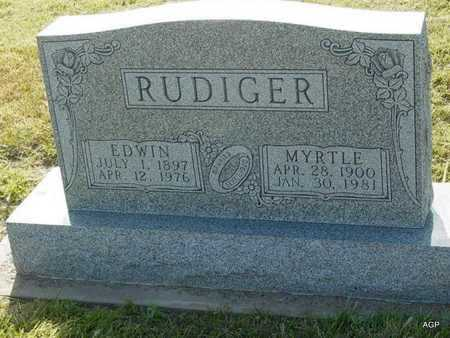 RUDIGER, EDWIN - Barton County, Kansas | EDWIN RUDIGER - Kansas Gravestone Photos