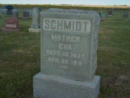 SCHMIDT, EVA - Barton County, Kansas | EVA SCHMIDT - Kansas Gravestone Photos