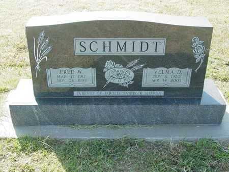 SCHMIDT, FRED W - Barton County, Kansas   FRED W SCHMIDT - Kansas Gravestone Photos