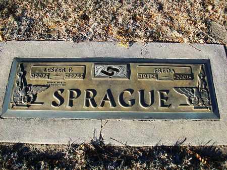 SPRAGUE, LESTER F - Barton County, Kansas | LESTER F SPRAGUE - Kansas Gravestone Photos