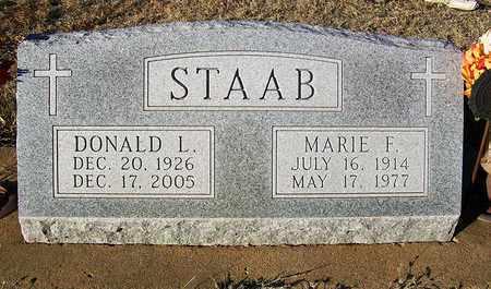STAAB, MARIE F - Barton County, Kansas | MARIE F STAAB - Kansas Gravestone Photos