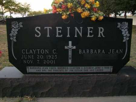 STEINER, CLAYTON C - Barton County, Kansas | CLAYTON C STEINER - Kansas Gravestone Photos
