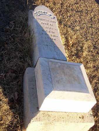 SUNDERLAND, LESLIE E - Barton County, Kansas   LESLIE E SUNDERLAND - Kansas Gravestone Photos