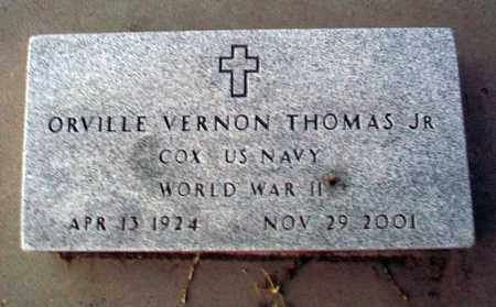 THOMAS, ORVILLE VERNON, JR   (VETERAN WWII) - Barton County, Kansas | ORVILLE VERNON, JR   (VETERAN WWII) THOMAS - Kansas Gravestone Photos