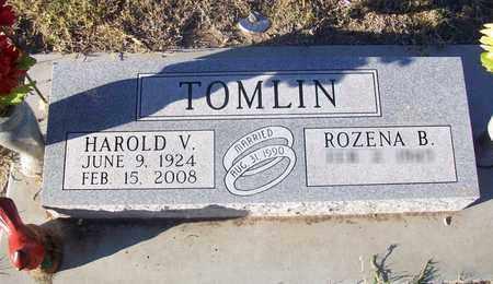TOMLIN, HAROLD V - Barton County, Kansas | HAROLD V TOMLIN - Kansas Gravestone Photos