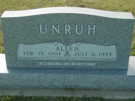 UNRUH, ALLEN - Barton County, Kansas | ALLEN UNRUH - Kansas Gravestone Photos