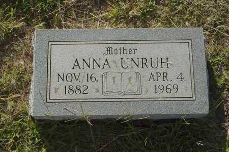 UNRUH, ANNA - Barton County, Kansas | ANNA UNRUH - Kansas Gravestone Photos