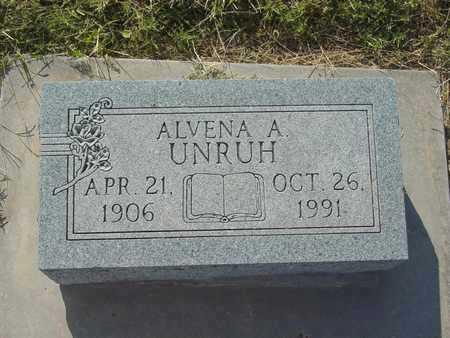 UNRUH, ALVENA A - Barton County, Kansas | ALVENA A UNRUH - Kansas Gravestone Photos